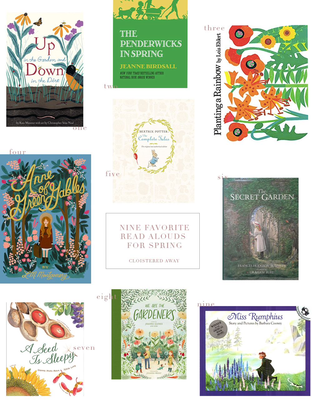 Nine Favorite Read Aloud Books for Spring